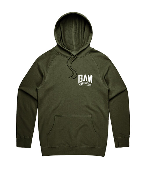 Baw Auto Mens Green Hoody